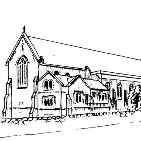 All Saints Porthcawl line drawing